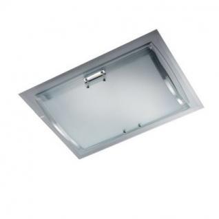 Wand- / Deckenleuchte Metall chrom Glas transparent weiß - Vorschau