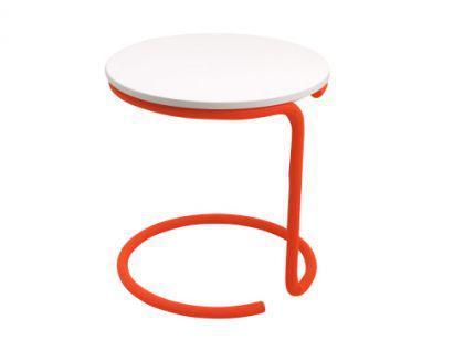 Beistelltisch metall mdf wei orange kaufen bei richhomeshop for Beistelltisch orange