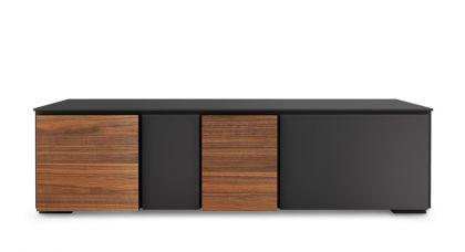 tv schrank deisgn lowboard mit vier t ren 180 cm breit. Black Bedroom Furniture Sets. Home Design Ideas