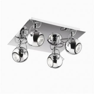 Wand- / Deckenleuchte Metall chrom einstellbar - Vorschau