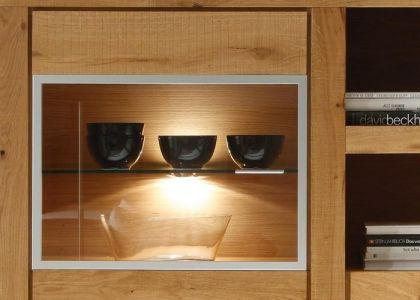 Highboard / Vitrine, Massivholz Eiche 2
