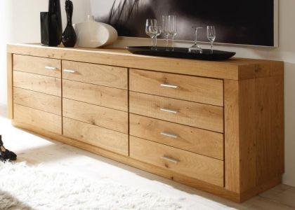 sideboard massivholz eiche kaufen bei richhomeshop. Black Bedroom Furniture Sets. Home Design Ideas