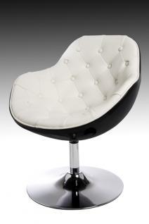 Design Sessel Speedchair gesteppt modern in weiß / schwarz