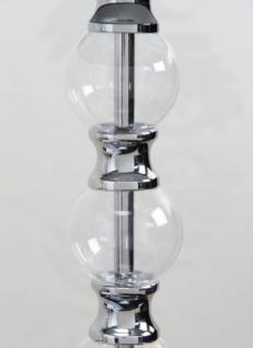 Moderne Tischleuchte verchromt mit einem schwarzen Lampenschirm - Vorschau 3
