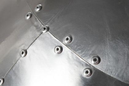 Design Sessel mit Aluminium beschichtet 360° drehbar - Vorschau 3