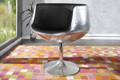 Design Sessel mit Aluminium beschichtet 360° drehbar - Vorschau 1