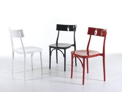 Designstuhl Classic, Farbe rot