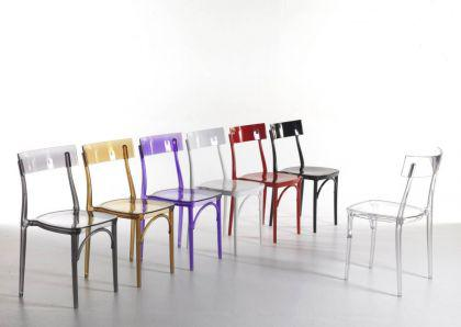 Design Stuhl Classic, Farbe amber transparent - Vorschau 1