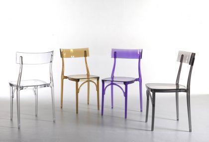Design Stuhl Classic, Farbe transparent