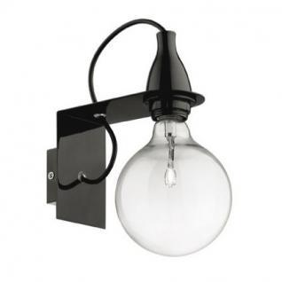 Wandleuchte Metall schwarz, Halogenlampe, Kabel - Vorschau