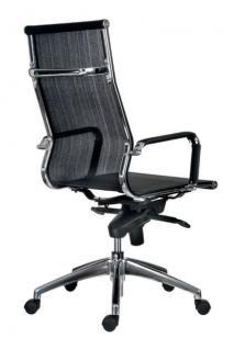 b rostuhl mit hohe r ckenlehne chefsessel farbe chrom schwarz kaufen bei richhomeshop. Black Bedroom Furniture Sets. Home Design Ideas