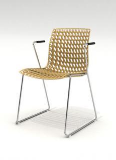 Design-Stuhl mit Armlehne in sieben Farben - Vorschau 1