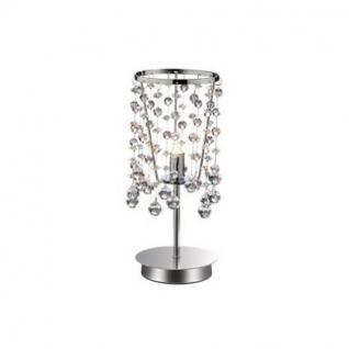 Tischleuchte Metall chrom, Glas transparent, modern - Vorschau