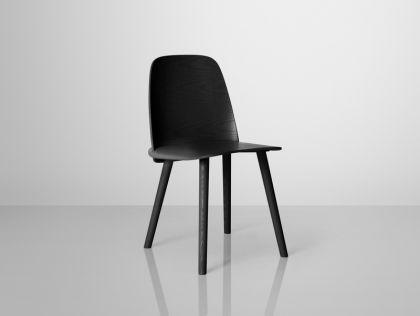 Designer Stuhl in schwarz