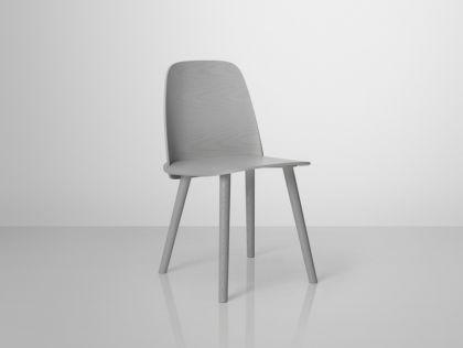 Designer Stuhl in grau