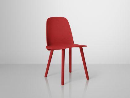 Designer Stuhl in Rot