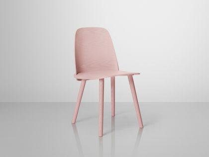 Designer Stuhl in rosé - Vorschau