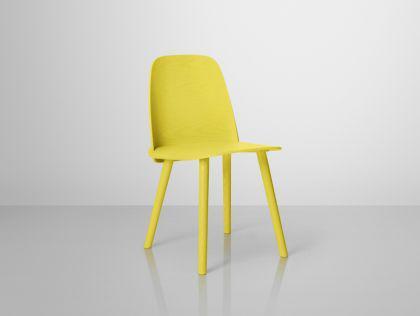 Designer Stuhl in gelb
