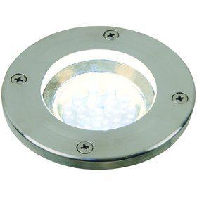 Einbauleuchte rostfreier Edelstahl PVC Glas LED modern