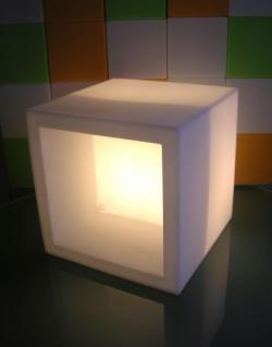 Design Regal Elemet Open Cube groß, leuchtend