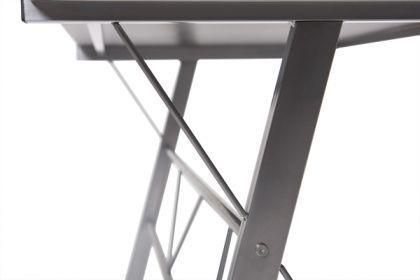 Design Bürotisch mit einer schwarzen Glasplatte - Vorschau 4