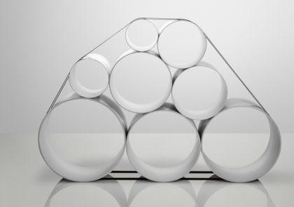 Designer Regalsystem in weiß