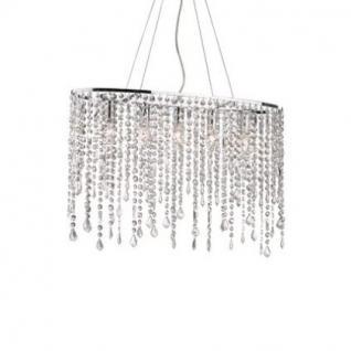 Pendelleuchte Metall chrom, Kristall transparent, modern - Vorschau