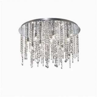 Deckenleuchte Metall chrom, Kristall transparent, modern - Vorschau