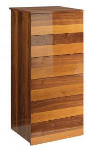 moderne kommode walnuss furniert h he 122 cm kaufen bei richhomeshop. Black Bedroom Furniture Sets. Home Design Ideas