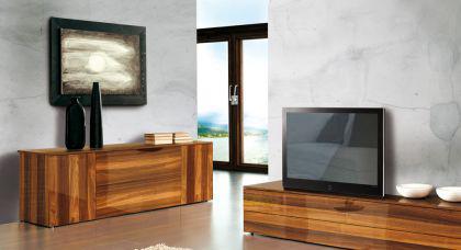 Kommode mit Walnuss furniert, modernes Sideboard in 190 cm Breite