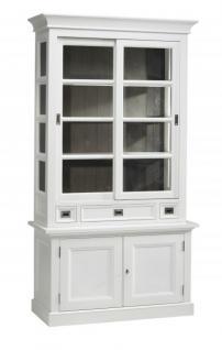 weiße vitrine landhausstil