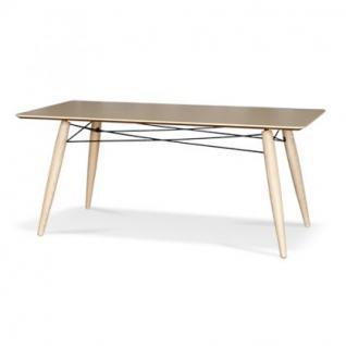 Tisch modern aus esche holz metall 180 x 90 kaufen bei for Tisch holz modern