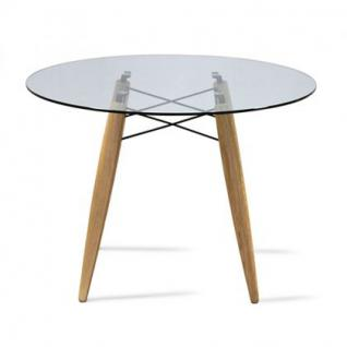 tisch rund holz glastischplatte modern kaufen bei richhomeshop. Black Bedroom Furniture Sets. Home Design Ideas
