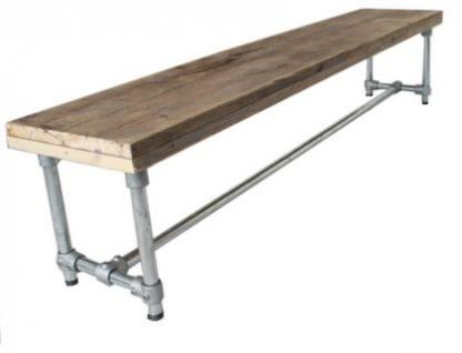 bank im industriedesign sitzbank aus metall und bauholz l nge 200 cm kaufen bei richhomeshop. Black Bedroom Furniture Sets. Home Design Ideas