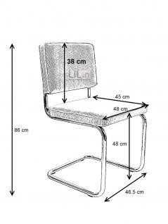 Designerstuhl aus echtem Leder in schwarz - Vorschau 2