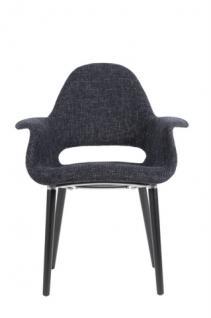 Designerstuhl mit Armlehne in zwei Farben - Vorschau 4