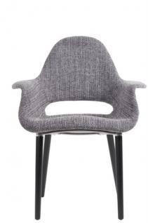 Designerstuhl mit Armlehne in zwei Farben - Vorschau 3