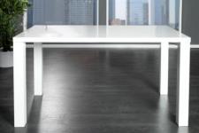 moderner Tisch, schichtholz lackiert, high gloss weiß