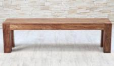 Sitzbank im Landhausstil, massiv Holz