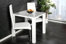 moderner Tisch, hochglanz lackiertes Holz, high gloss weiß