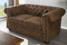 2-Sitzer Sofa im Chesterfield Look