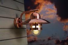 Wandleuchte Metall kuupfer Glas Outdoor 15 Jahre Anti-Rost-Garantie