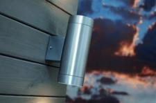 Wandleuchte Metall Aluminium Glas Outdoor