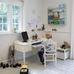 Junior- Kinderschreibtisch im Landhausstil in weiß