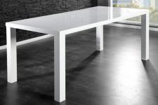 Moderner Tisch, Hochglanz lackiert, Farbe weiß, 200 cm