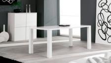 Design Esstisch in weiß und schwarz