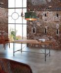Esstisch, Tisch aus Mettall und Holz, im Lanhausstil in drei Größen