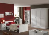 Kleiderschrank Hampton im Landhausstil mit drei Türen in weiß