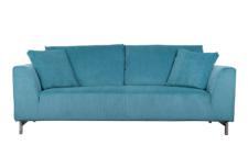 Sofa aus Kordgewebe in blau
