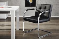 Freischwinger / Konferenzstuhl / Besucherstuhl mit Kunstleder bezogen